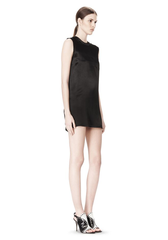 ALEXANDER WANG DRESS WITH EXPOSED DISTRESSED BACK 3/4 length dress Adult 12_n_e