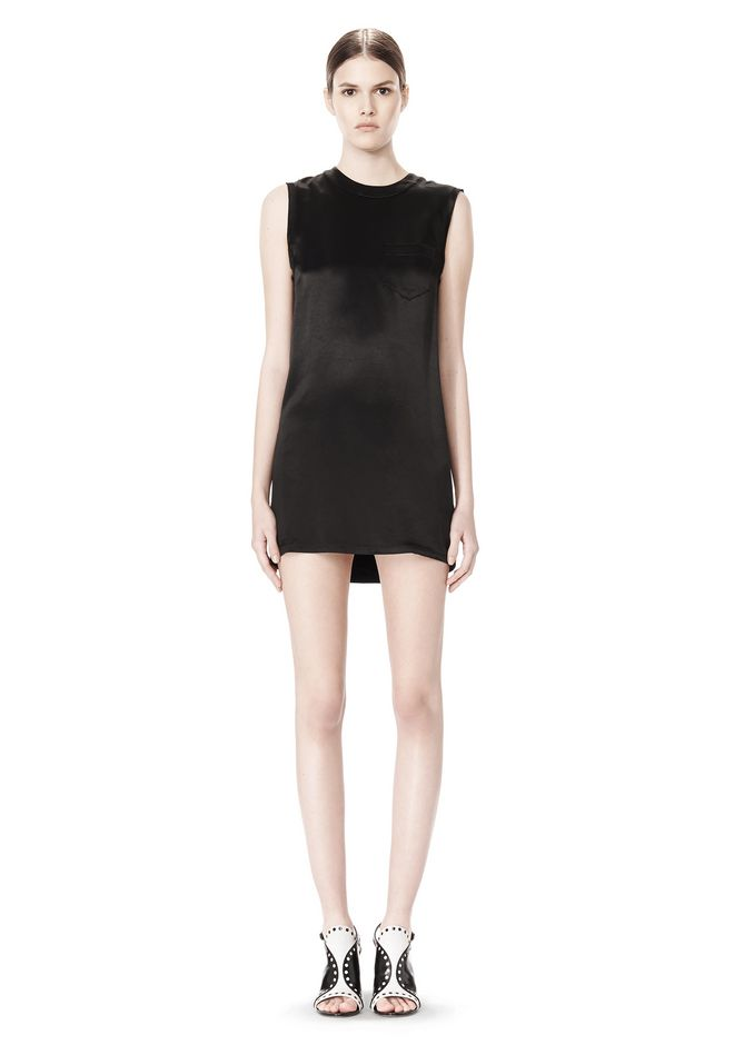 ALEXANDER WANG DRESS WITH EXPOSED DISTRESSED BACK 3/4 length dress Adult 12_n_f