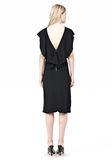 ALEXANDER WANG OPEN FOLDED BACK SLIM DRESS 3/4 length dress Adult 8_n_r