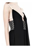 ALEXANDER WANG CAMISOLE DRESS WITH LOGO EYELET EMBROIDERY 3/4 length dress Adult 8_n_d