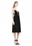 ALEXANDER WANG CAMISOLE DRESS WITH LOGO EYELET EMBROIDERY 3/4 length dress Adult 8_n_e