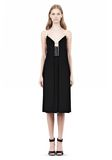 ALEXANDER WANG CAMISOLE DRESS WITH LOGO EYELET EMBROIDERY 3/4 length dress Adult 8_n_f