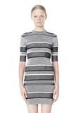 T by ALEXANDER WANG RIB KNIT SHORT SLEEVE DRESS Short Dress Adult 8_n_d