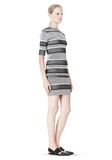 T by ALEXANDER WANG RIB KNIT SHORT SLEEVE DRESS Short Dress Adult 8_n_e