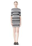 T by ALEXANDER WANG RIB KNIT SHORT SLEEVE DRESS Short Dress Adult 8_n_f