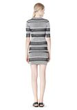 T by ALEXANDER WANG RIB KNIT SHORT SLEEVE DRESS Short Dress Adult 8_n_r