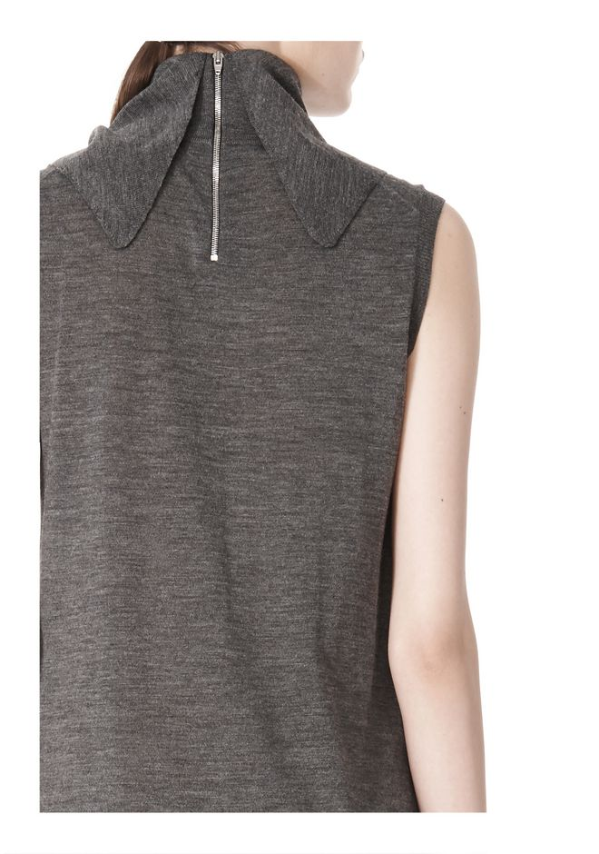 ALEXANDER WANG TUNIC WITH ZIP BANDANA  KNIT DRESS Adult 12_n_a