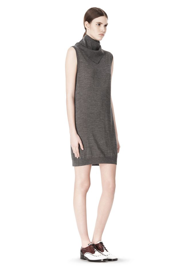 ALEXANDER WANG TUNIC WITH ZIP BANDANA  KNIT DRESS Adult 12_n_e