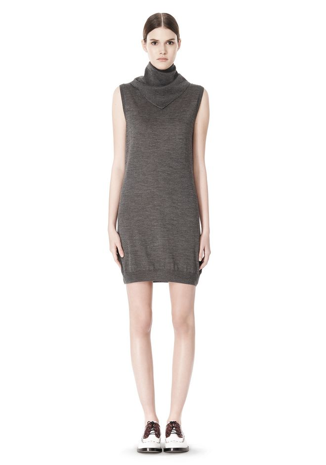 ALEXANDER WANG TUNIC WITH ZIP BANDANA  KNIT DRESS Adult 12_n_f