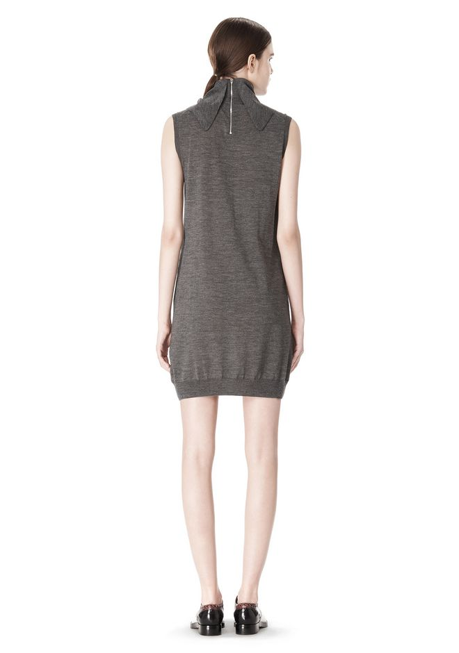 ALEXANDER WANG TUNIC WITH ZIP BANDANA  KNIT DRESS Adult 12_n_r