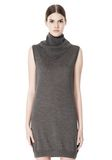 ALEXANDER WANG TUNIC WITH ZIP BANDANA  KNIT DRESS Adult 8_n_d