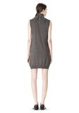 ALEXANDER WANG TUNIC WITH ZIP BANDANA  KNIT DRESS Adult 8_n_r
