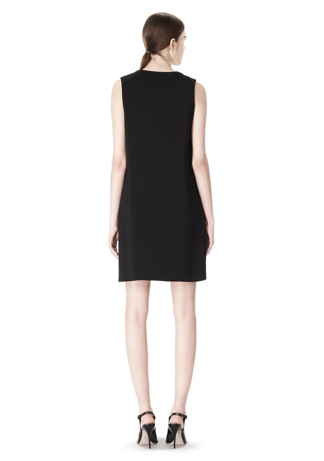 ALEXANDER WANG DOUBLE LAYER DRESS WITH CONTRAST SLIT Short Dress Adult 12_n_r