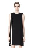 ALEXANDER WANG DOUBLE LAYER DRESS WITH CONTRAST SLIT Short Dress Adult 8_n_d