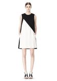 ALEXANDER WANG DOUBLE LAYER DRESS WITH CONTRAST SLIT Short Dress Adult 8_n_f