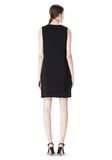 ALEXANDER WANG DOUBLE LAYER DRESS WITH CONTRAST SLIT Short Dress Adult 8_n_r