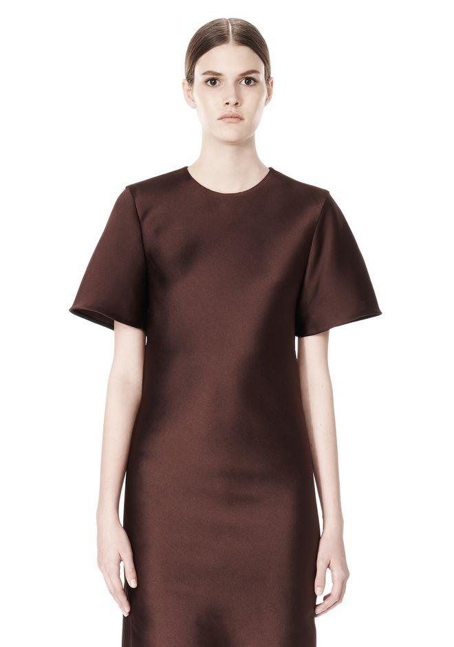 ALEXANDER WANG EXCLUSIVE T-SHIRT DRESS WITH FRINGE Short Dress Adult 12_n_a