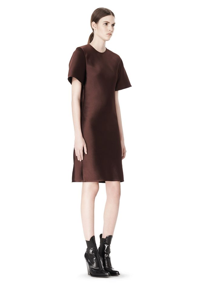 ALEXANDER WANG EXCLUSIVE T-SHIRT DRESS WITH FRINGE Short Dress Adult 12_n_d