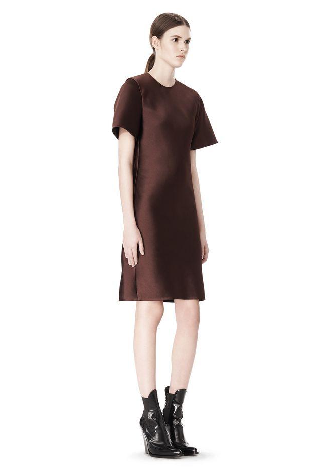 ALEXANDER WANG EXCLUSIVE T-SHIRT DRESS WITH FRINGE Short Dress Adult 12_n_d