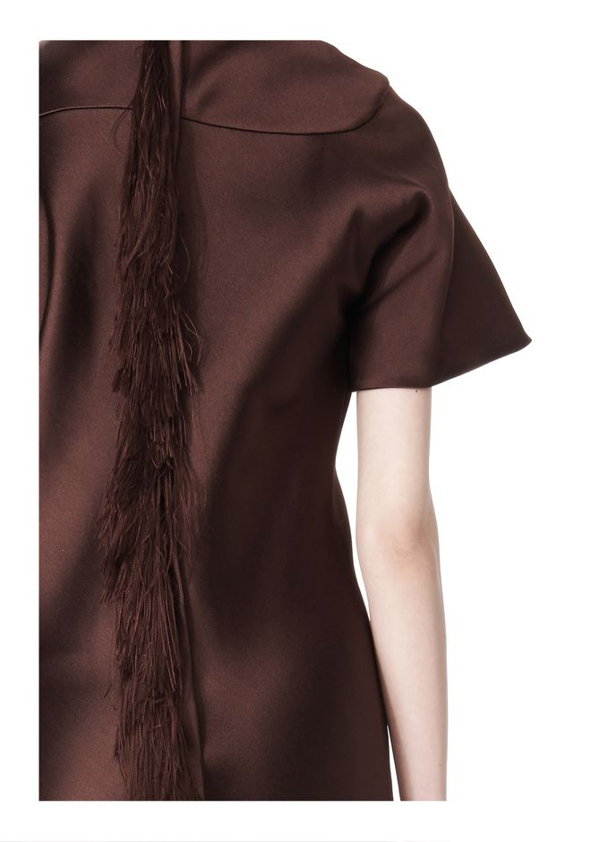 ALEXANDER WANG EXCLUSIVE T-SHIRT DRESS WITH FRINGE Short Dress Adult 12_n_r