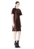 ALEXANDER WANG EXCLUSIVE T-SHIRT DRESS WITH FRINGE Short Dress Adult 8_n_d