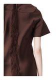 ALEXANDER WANG EXCLUSIVE T-SHIRT DRESS WITH FRINGE Short Dress Adult 8_n_r