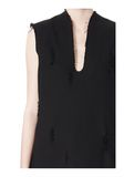 ALEXANDER WANG DISTRESSED SLEEVELESS V-NECK TUNIC Short Dress Adult 8_n_a