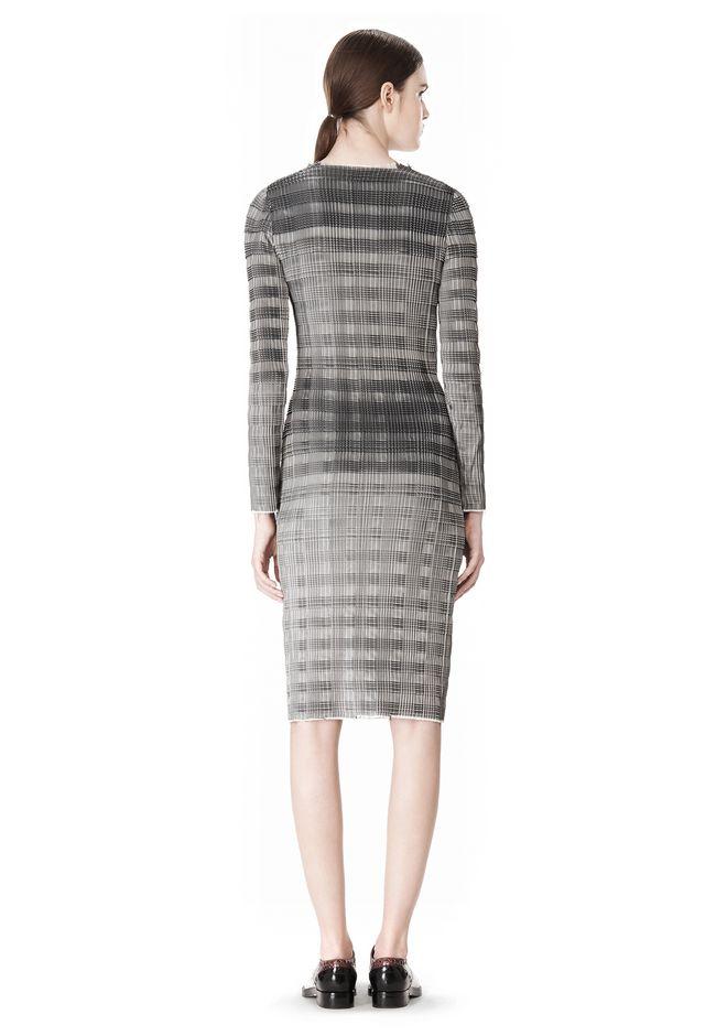 ALEXANDER WANG PLEATED DRESS WITH RAW EDGE Short Dress Adult 12_n_r
