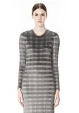 ALEXANDER WANG PLEATED DRESS WITH RAW EDGE Short Dress Adult 8_n_d
