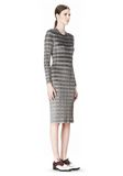 ALEXANDER WANG PLEATED DRESS WITH RAW EDGE Short Dress Adult 8_n_e