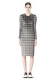ALEXANDER WANG PLEATED DRESS WITH RAW EDGE Short Dress Adult 8_n_f