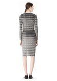 ALEXANDER WANG PLEATED DRESS WITH RAW EDGE Short Dress Adult 8_n_r