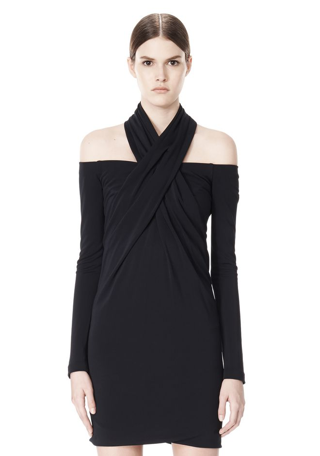 ALEXANDER WANG LONG SLEEVE SHOUDLERLESS DRESS  Short Dress Adult 12_n_d