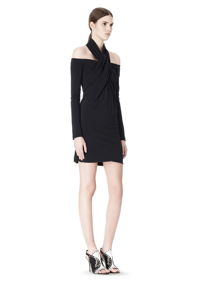 ALEXANDER WANG LONG SLEEVE SHOUDLERLESS DRESS  Short Dress Adult 12_n_e