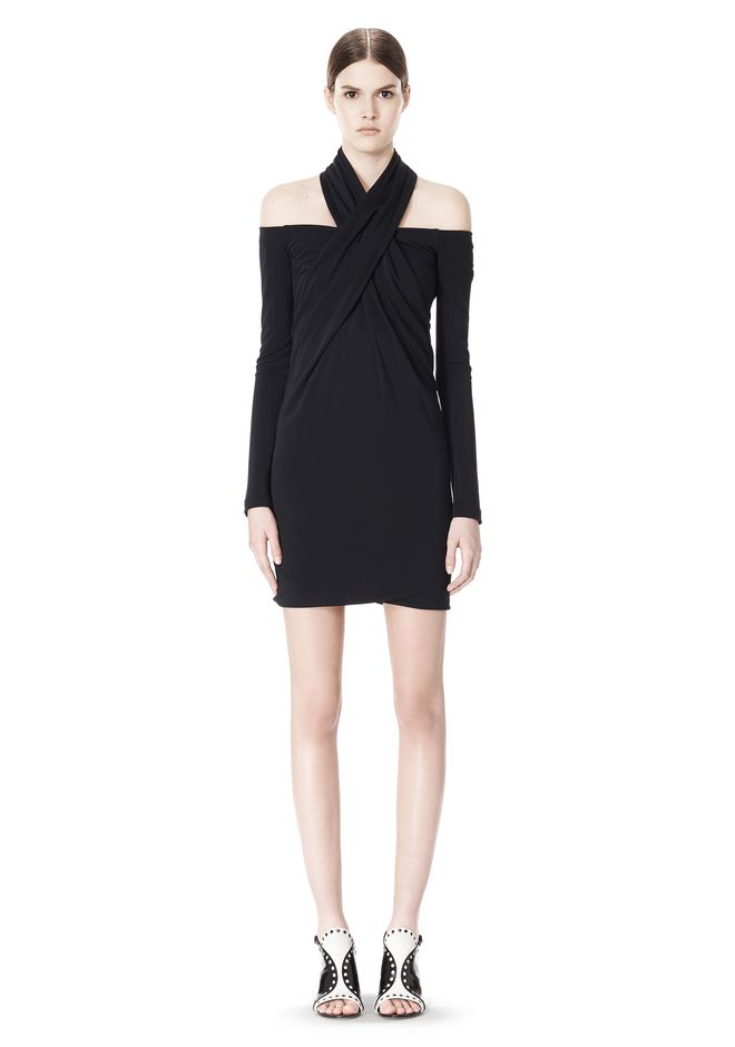 ALEXANDER WANG LONG SLEEVE SHOUDLERLESS DRESS  Short Dress Adult 12_n_f