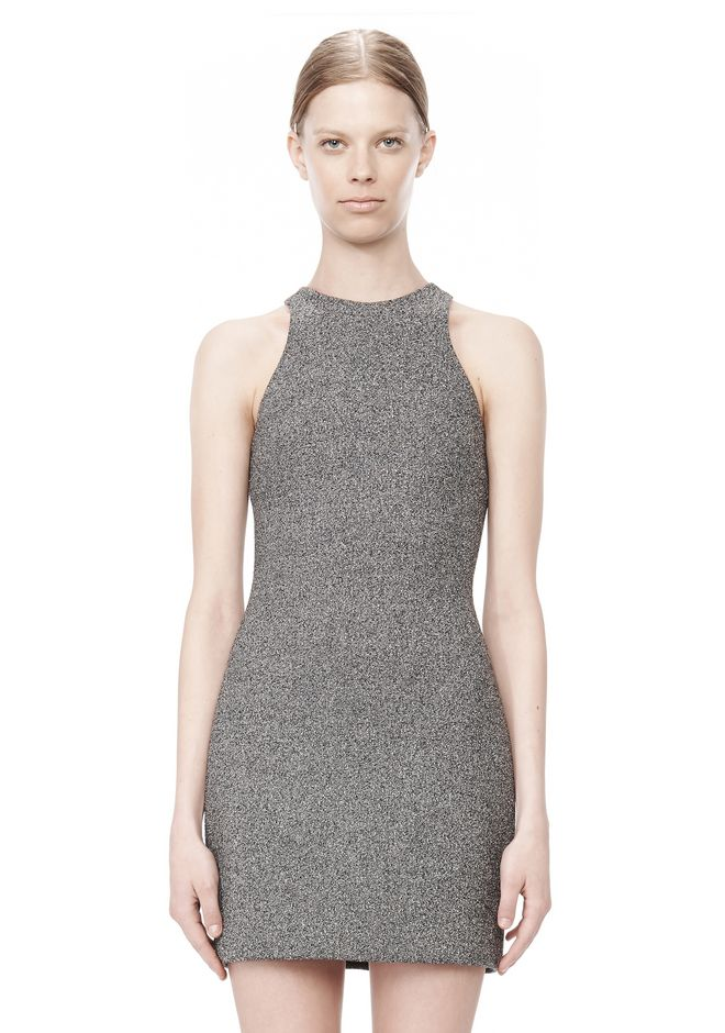 T by ALEXANDER WANG MESH BONDED NEOPRENE SLEEVELESS DRESS Short Dress Adult 12_n_d