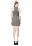 T by ALEXANDER WANG MESH BONDED NEOPRENE SLEEVELESS DRESS Short Dress Adult 8_n_r