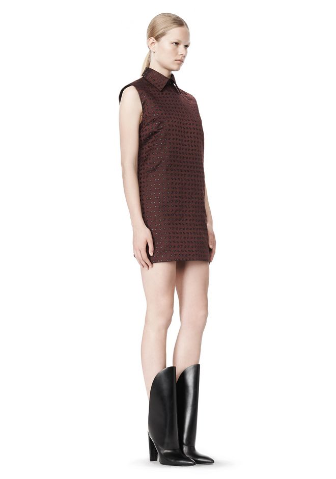 ALEXANDER WANG SHORT SLEEVE TUNIC DRESS WITH SHIRT COLLAR Short Dress Adult 12_n_e