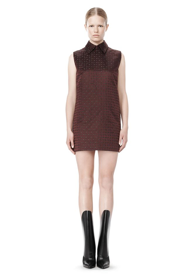 ALEXANDER WANG SHORT SLEEVE TUNIC DRESS WITH SHIRT COLLAR Short Dress Adult 12_n_f