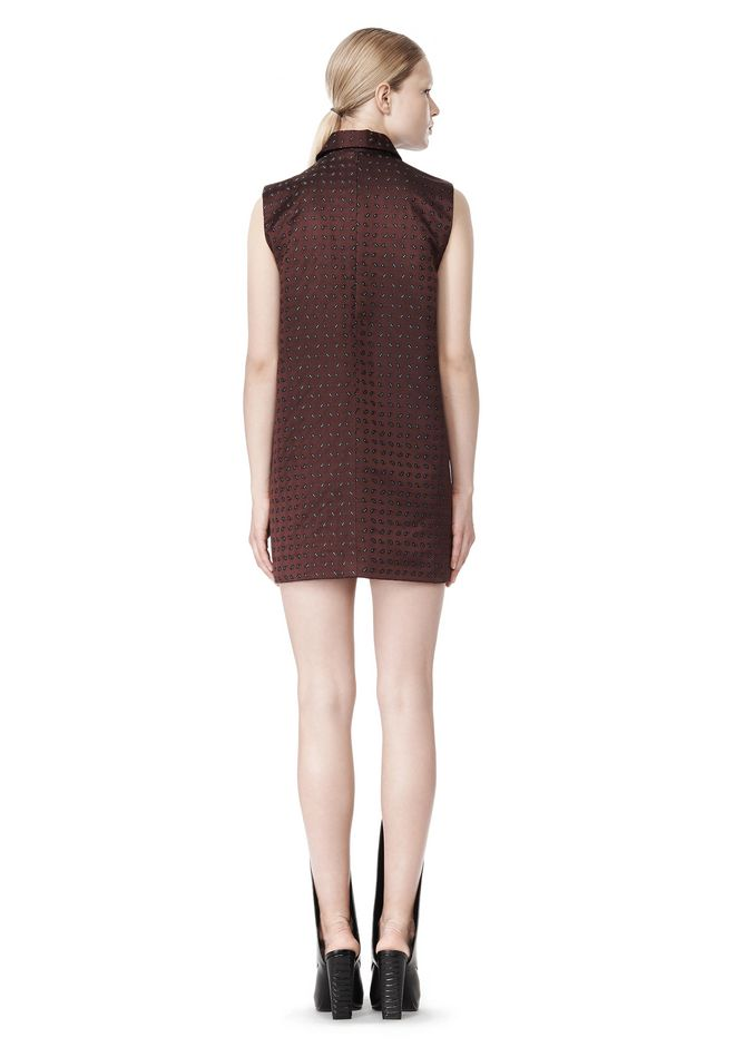 ALEXANDER WANG SHORT SLEEVE TUNIC DRESS WITH SHIRT COLLAR Short Dress Adult 12_n_r