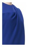 ALEXANDER WANG EXCLUSIVE DRAPED CREW NECK DRESS WITH SATIN YOKE Short Dress Adult 8_n_a