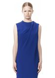 ALEXANDER WANG EXCLUSIVE DRAPED CREW NECK DRESS WITH SATIN YOKE Short Dress Adult 8_n_d