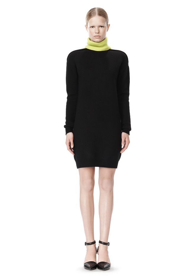 ALEXANDER WANG SPLITTABLE TURTLENECK DRESS KNIT DRESS Adult 12_n_f