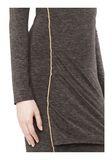 T by ALEXANDER WANG MOHAIR JERSEY LONG SLEEVE DRESS WITH TWIST DRAPE Short Dress Adult 8_n_a