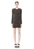 T by ALEXANDER WANG MOHAIR JERSEY LONG SLEEVE DRESS WITH TWIST DRAPE Short Dress Adult 8_n_f