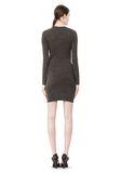 T by ALEXANDER WANG MOHAIR JERSEY LONG SLEEVE DRESS WITH TWIST DRAPE Short Dress Adult 8_n_r