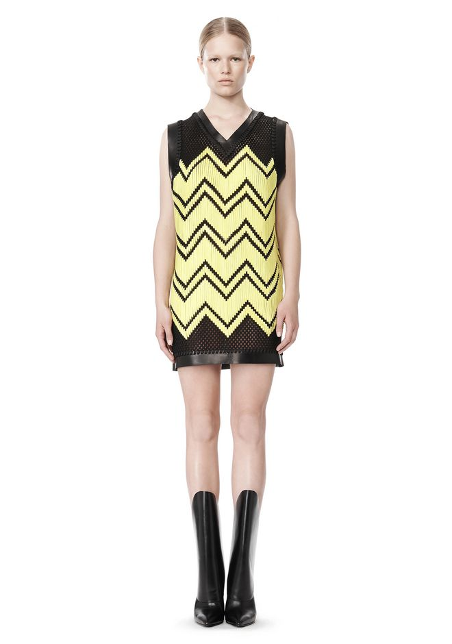 ALEXANDER WANG V-NECK DRESS WITH SHOE LACE EMBROIDERY Short Dress Adult 12_n_f