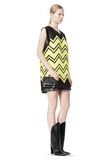 ALEXANDER WANG V-NECK DRESS WITH SHOE LACE EMBROIDERY Short Dress Adult 8_n_e