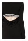T by ALEXANDER WANG MATTE JERSEY LONG SLEEVE DRESS WITH DRAPE DETAIL Short Dress Adult 8_n_a