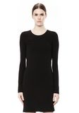 T by ALEXANDER WANG MATTE JERSEY LONG SLEEVE DRESS WITH DRAPE DETAIL Short Dress Adult 8_n_d